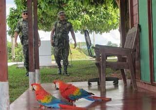 Pelotão de fronteira Amazônia (Foto: Tahiane Stochero/G1)