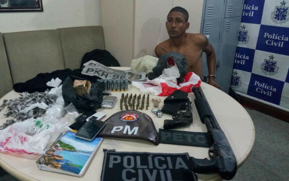 Gate é apontado pela polícia como chefe do tráfico de Alto de Coutos (Foto: Divulgação/SSP- BA)