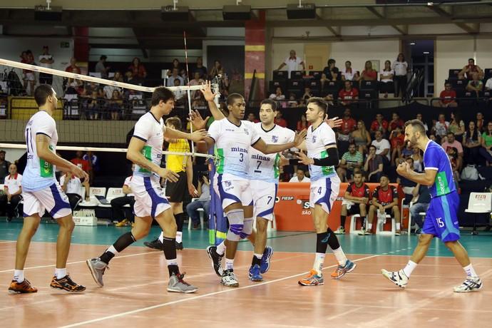 Escobar, Minas x Sesi-SP, Superliga masculina, vôlei (Foto: Divulgação / CBV)