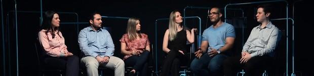 Seis jovens residentes se encontram e compartilham suas experiências (Rede Globo)
