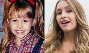 Carla Diaz em 1997, aos 7 anos, em 'Chiquititas', e atualmente aos 26, como Carine em 'A força do querer'. 'É um papel completamente diferente de tudo o que já fiz', diz a atriz. Veja quem também cresceu trabalhando na TV | Reprodução e TV Globo