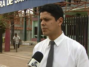 Secretário de Fazenda de Santana, Fabiano Oliveira (Foto: Reprodução/Rede Amazônica)