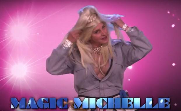 Ellen DeGeneres em paródia de Magic Mike (Foto: Reprodução)