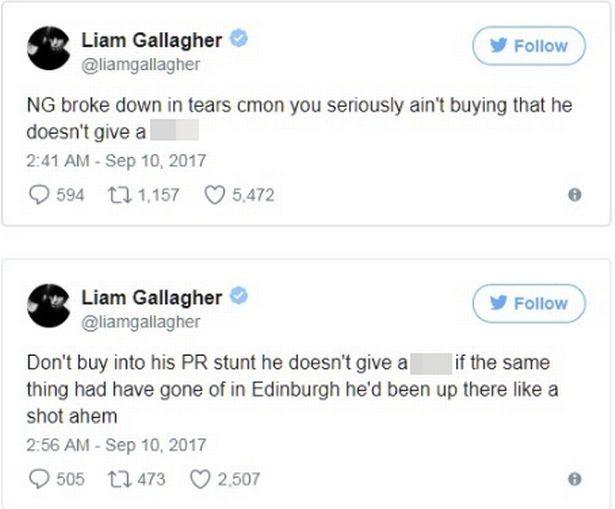 Liam Gallagher duvida dos sentimentos do irmão (Foto: reprodução/ Twitter)