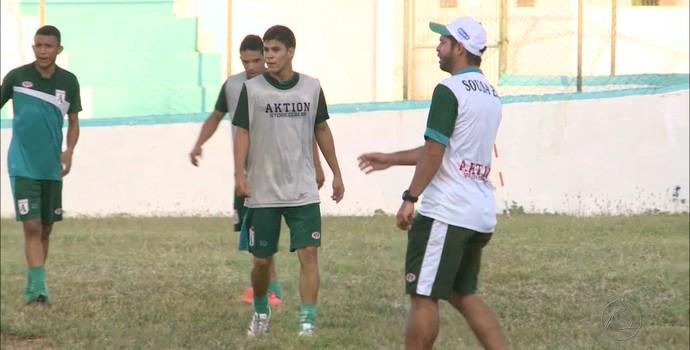 Sousa, treino, Tazinho (Foto: Reprodução / TV Paraíba)