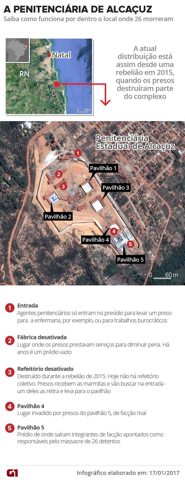 Penitenciária de Alcaçuz (Foto: Arte/G1)
