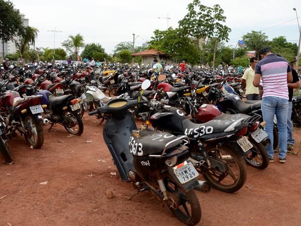 Motos são leiloadas pela Prefeitura de Palmas (Foto: Divilgação/Prefeitura de Palmas)