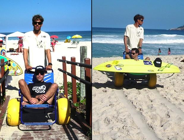 Andrezinho Carioca surfista adaptado (Foto: Vinícius Boneco)