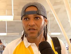 Dênis Marques - atacante ABC (Foto: Reprodução/Inter TV Cabugi)