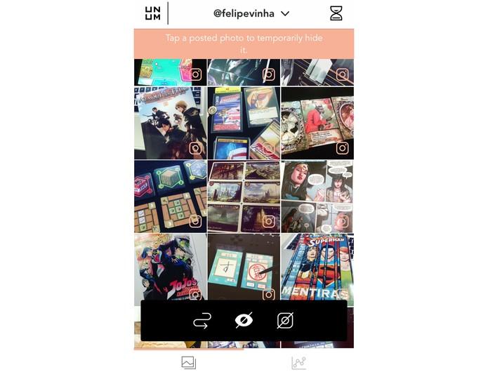 Página inicial do UNUM com o Instagram (Foto: Reprodução/Felipe Vinha)