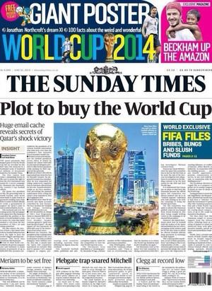 Capa Sunday Times Copa 2022 (Foto: Reprodução)