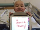 'Ele tem três aniversários', diz mãe  após medula de Paulinho pegar