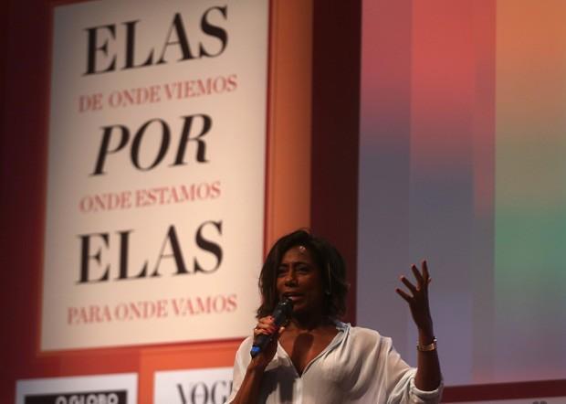 Gloria Maria durante abertura do evento  (Foto: Pilar Olivares)
