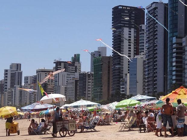 Praia de Boa Viagem, no Recife (Foto: Katherine Coutinho/G1)