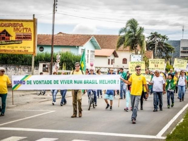 Manifestações são a favor das investigações da Operação Lava Jato (Foto: Mascus Zilli/Divulgação)