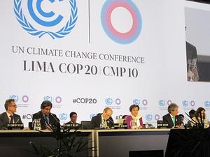 Foto leitura rascunho COP 20 Lima Peru dia final (Foto: Eduardo Carvalho/G1)