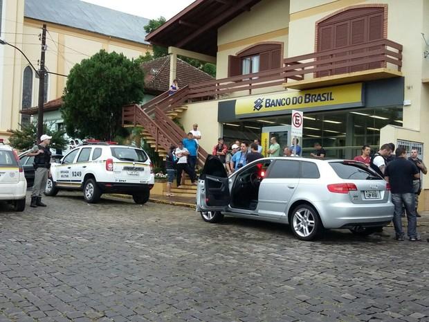Agência fica em praça central de Monte Belo do Sul (Foto: Arquivo Pessoal)