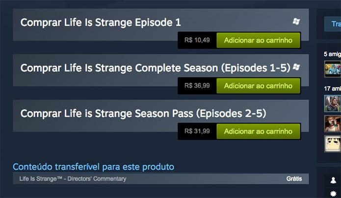 Saiba como fazer o download de Life is Strange (Foto: Reprodução/Felipe Vinha)