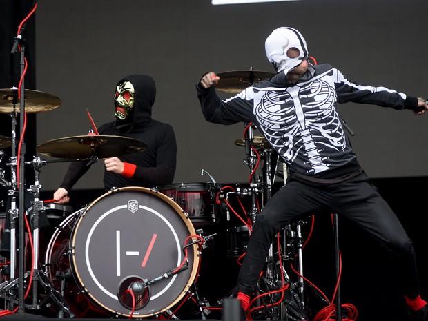 Twenty One Pilots se apresentam no palco Skol do Lollapalooza 2016 (Foto: Flavio Moraes/G1)