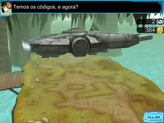 As campanhas de Star Wars: Assault Team desenvolvem a trama com rápidas animações e diálogos entre os personagens no esquadrão (Foto: Reprodução/Daniel Ribeiro)
