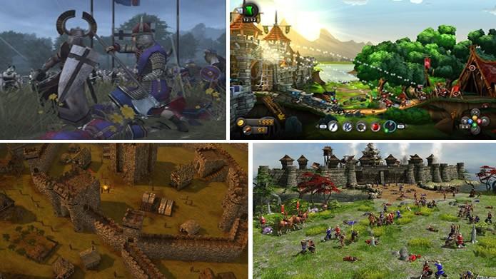 Medieval II: Total War Kingdoms, CastleStorm, Stronghold 3 e Age of Empires III são alguns dos maiores jogos de guerras medievais (Arte: Daniel Ribeiro)