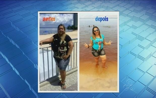Cristina Andrade perdeu 26 kg praticando zumba (Foto: Amazonas TV)