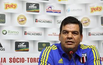 Bileu chega e treina, e Moacir Jr se diz contente com reforços do Botafogo-SP