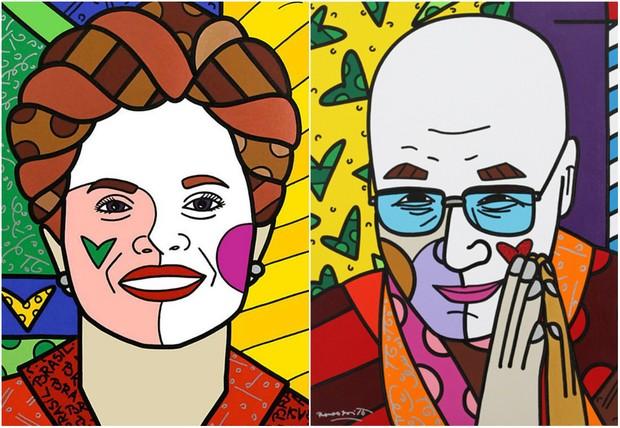 Dilma Roussef e Dalei Lama (Foto: Reprodução/Instagram)