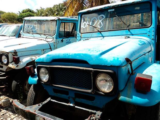 Empresa descarta veículos e equipamentos que já não servem mais para uso da companhia (Foto: Divulgação/Caern)