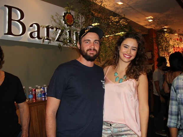 Max Fercondini e Amanda Richter em boate na Zona Sul do Rio (Foto: Anderson Borde/ Ag. News)