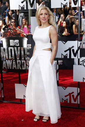 Ellie Goulding no MTV Movie Awards em Los Angeles, nos Estados Unidos (Foto: Danny Moloshok/ Reuters)