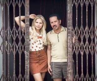 Leticia Colin e Edmilson Filho em 'Cine Holliúdy'   Marcos Rosa/TV Globo