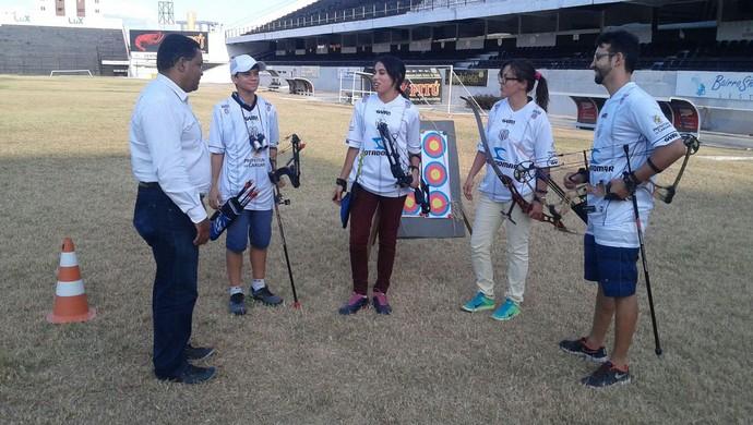 Equipe de arco e flecha (Foto: Adrinaldo Barbosa)