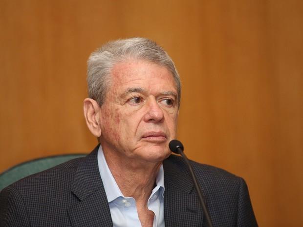 Rogério Santos Araújo, ex-executivo da Odebrecht, na sessão da CPI da Petrobras, em Curitiba (Foto: Giuliano Gomes/PR PRESS)