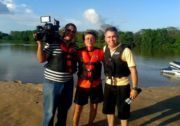 Equipe da TV Clube contou com a colaboração do instrutor náutico Genoino Cavalcanti  (Foto: TV Clube)