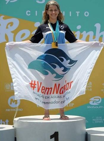Giovanna Reis nadadora do Amazonas (Foto: Divulgação)