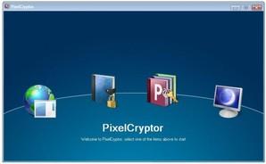Página inicial do PixelCryptor
