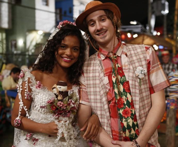 Tadeu acompanhou a noivinha Lilica (Foto: Ellen Soares/Gshow)