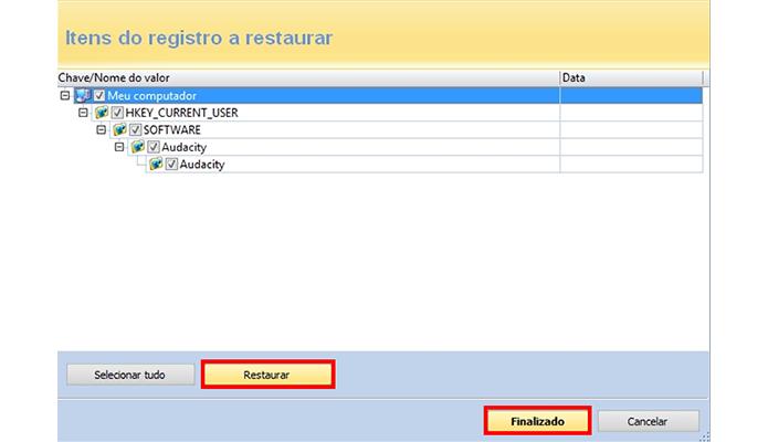 Selecione quais arquivos do registro deseja recuperar (Foto: Reprodução/Paulo Alves)