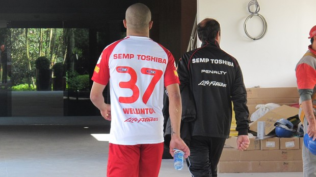 Welliton treino são paulo (Foto: Carlos Augusto Ferrari)