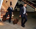 Real chega ao Japão com Casemiro e Marcelo assediados por torcedores