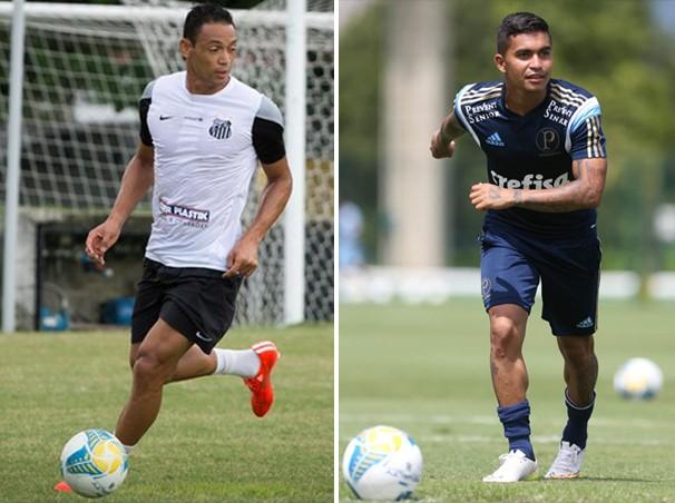 Os atacantes Ricardo Oliveira e Dudu devem se enfrentar no clássico (Foto: reprodução Globoesporte.com)