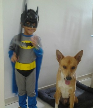 Caio - Batman - Famílias inspiradoras (Foto: Arquivo pessoal)