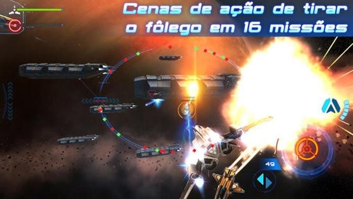 Jogo de naves impressiona pelos gráficos e pelas batalhas intensas (Foto: Divulgação)