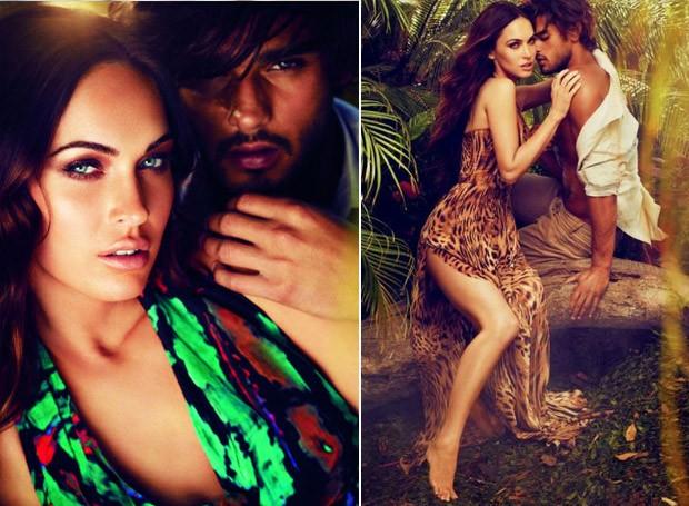 Megan Fox e Marlon Teixeira para campanha da Avon (Foto: Divulgao)