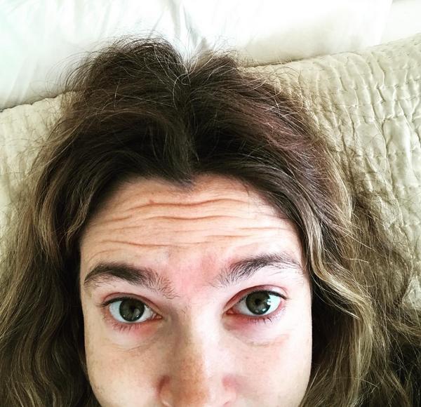 A selfie compartilhada pela atriz Drew Barrymore (Foto: Instagram)