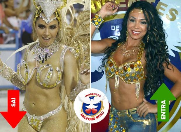 Mulher Melão e Letícia Guimarães (Foto:  Agnews / Vinicius Vianna )