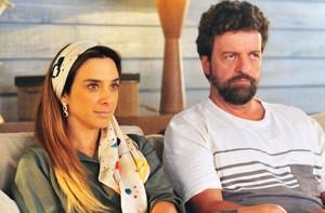 Irmã de Kátia, Livia é casada com o advogado Nuno (Foto: Rede Globo / João Miguel Júnior)
