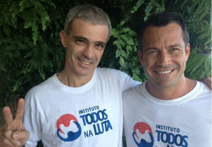 Raff Giglio e Malvino Salvador boxe (Foto: Arquivo pessoal)