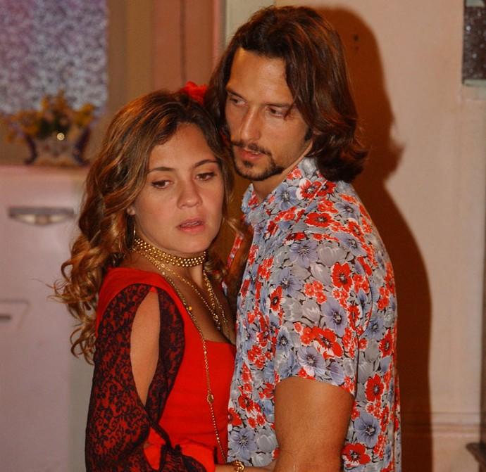 Adriana e Vladimir trabalharam juntos em Kubanacan, na pele de Lola e Enrico (Foto: Globo/Renato Rocha Miranda)